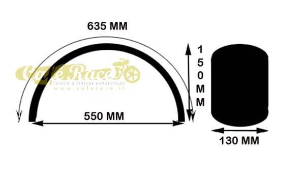 parafango posteriore corto per caf u00e8racer