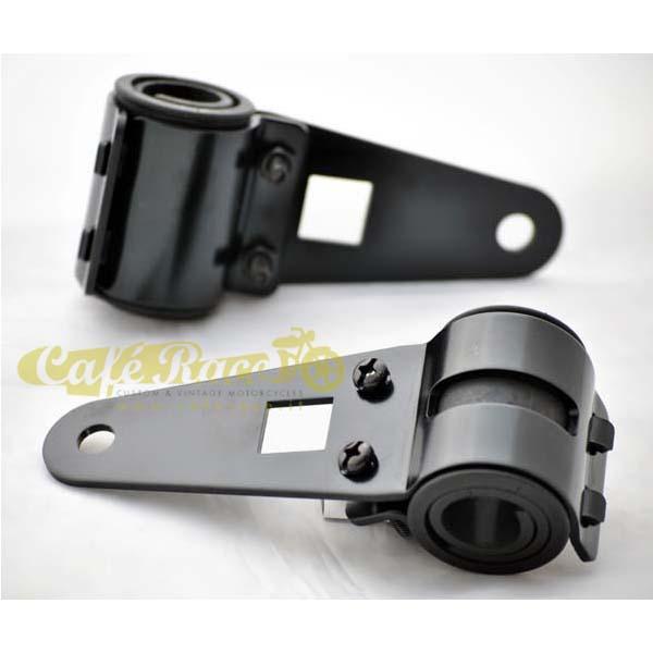 Staffe / supporti faro anteriore in alluminio colore nero (2 pezzi)