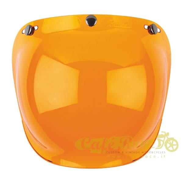 Visiera bolla bubble Biltwell Amber Solid per casco jet