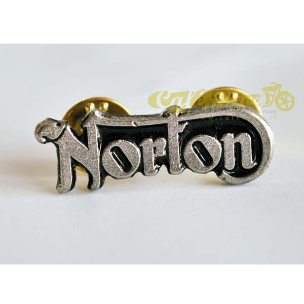 Spilla in metallo logo NORTON - 35mm x 13mm