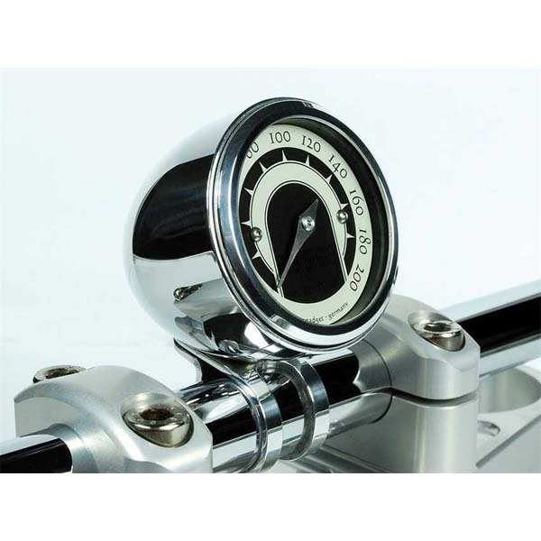 """Coppa Streamline Motogadget alluminio lucido per strumenti Motoscope TINY – manubri 1"""" - 25,4mm"""