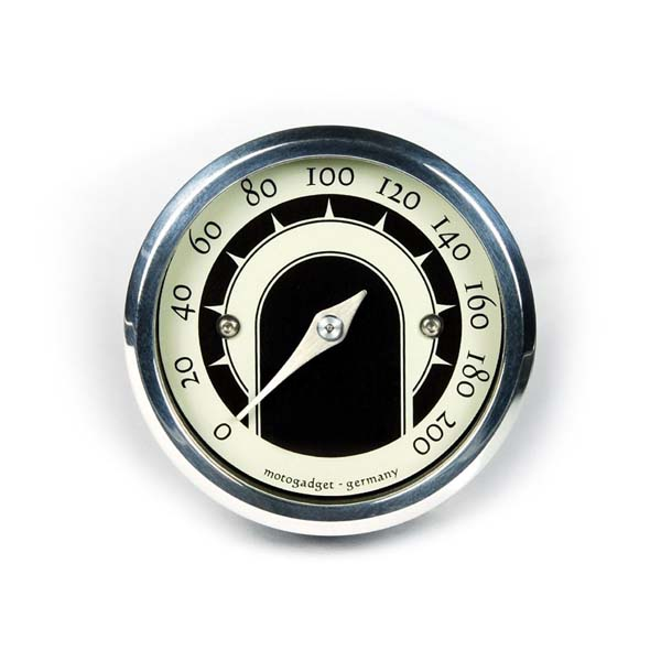 Contachilometri alluminio lucido Motoscope Tiny Speedster di Motogadget Ø 49 mm
