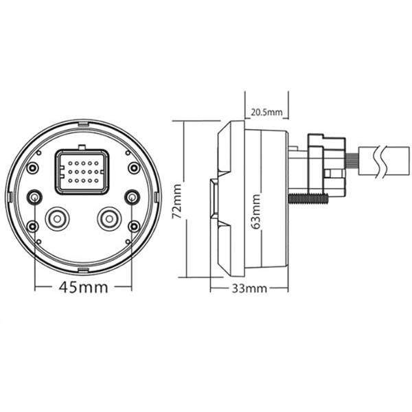 strumento contachilometri  contagiri koso dl03s argento