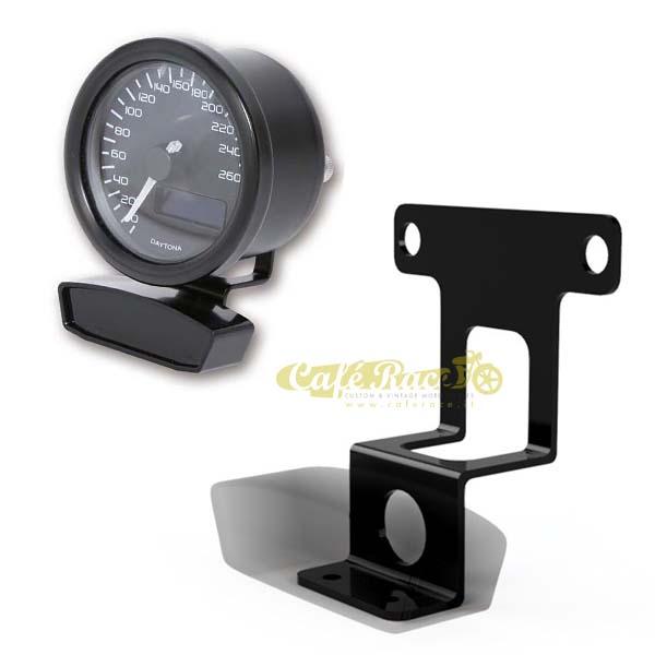 Supporto combinato nero per strumento Daytona Velona Ø 60mm / Unità Spie cod. 101092 - 101140