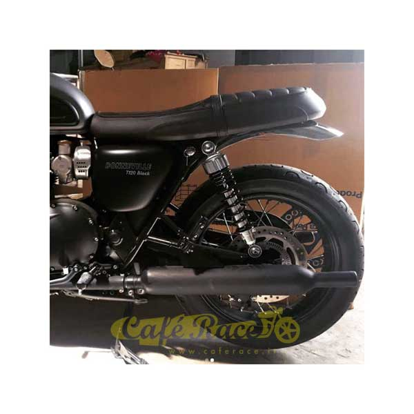 Rear Fender Polished Short For The Triumph Bonneville From 2016
