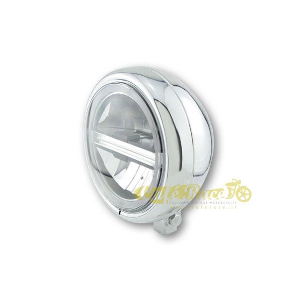 Faro anteriore HIGHSIDER PECOS LED cromato attacco basso Omologato