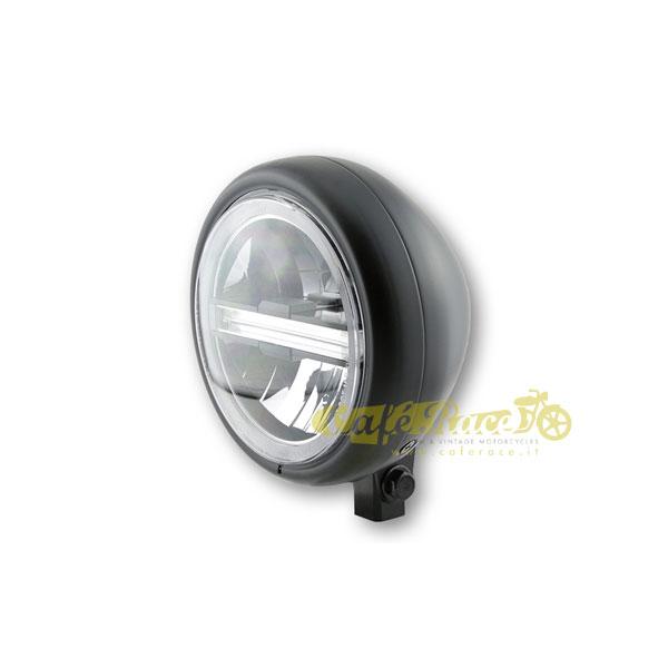Faro anteriore HIGHSIDER PECOS LED nero opaco attacco basso Omologato