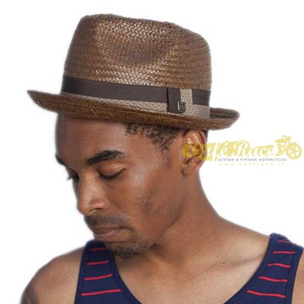 03d8556a6bbf6 Hat BRIXTON CASTOR FEDORA BROWN TAN tg. The