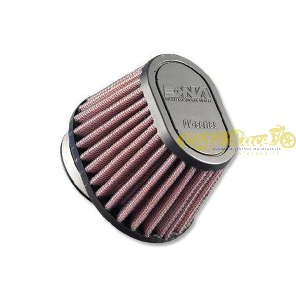 Filtro aria DNA Ø54mm conico ovale con top in gomma