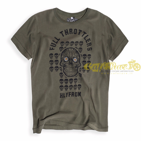 T-shirt Holy Freedom Skull Green tg.M