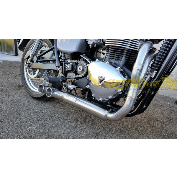 Complete Exhaust System With Kit 2in1 Mass Tromb For The Triumph
