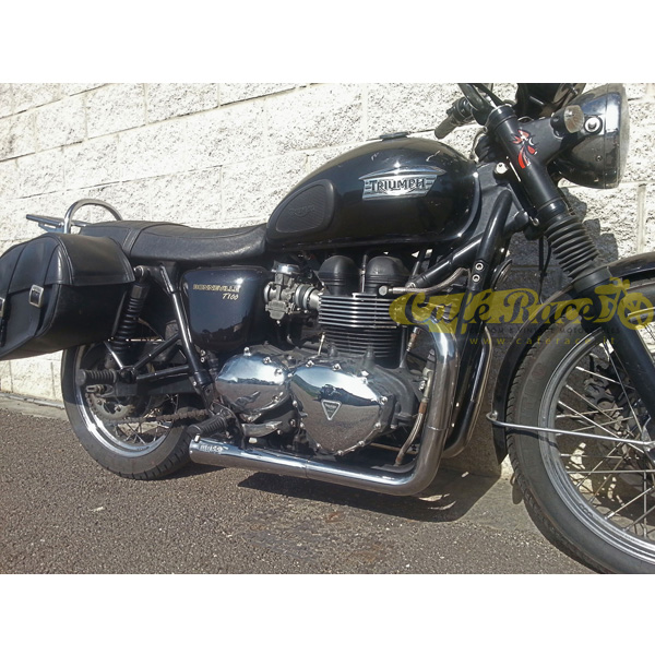 Complete Exhaust System With Kit 2in1 Mass Cross For The Triumph