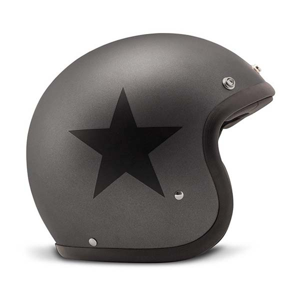 Casco jet DMD Vintage STAR GREY