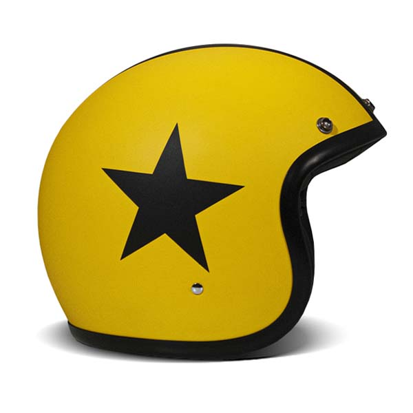 Casco jet DMD Vintage STAR YELLOW