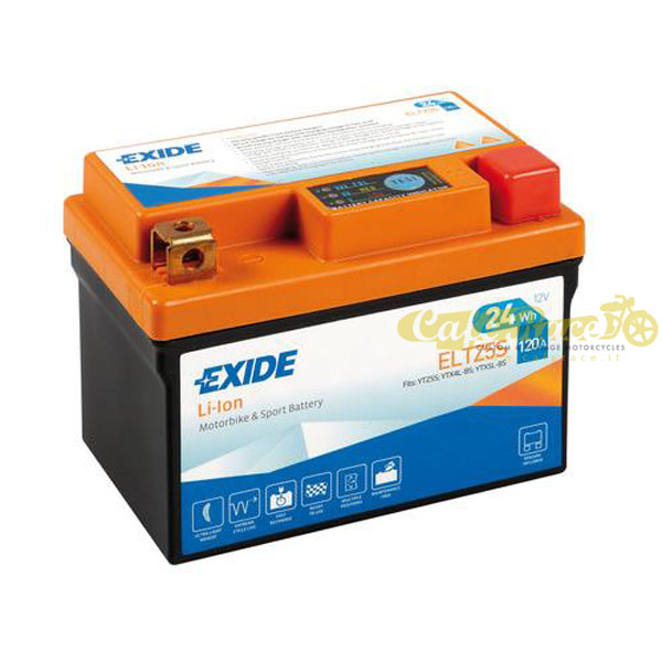 Batteria Exide Bike Li-Ion 12V-120A 113 x 70 x 85 mm
