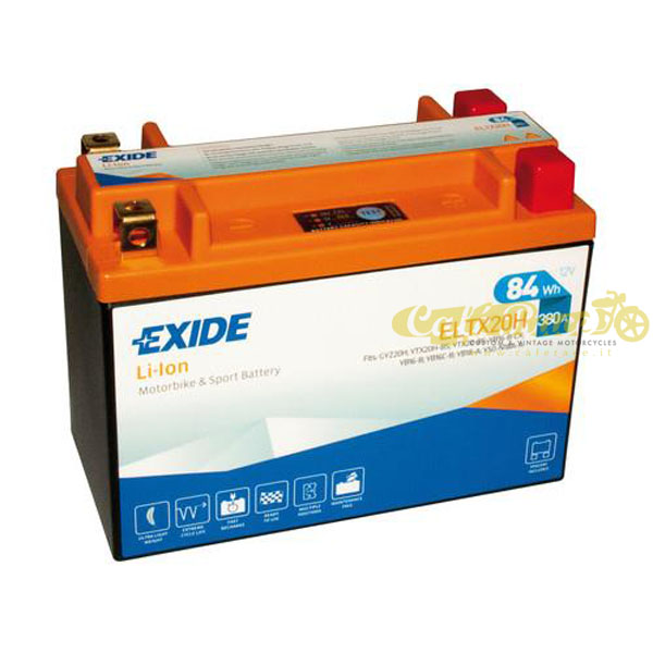 Batteria Exide Bike Li-Ion 12V-380A 175 x 87 x 130 mm