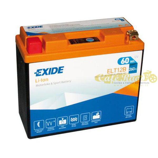Batteria Exide Bike Li-Ion 12V-260A 150 x 65 x 130 mm
