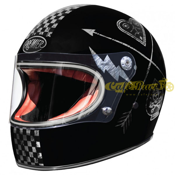 Casco integrale Premier TROPHY NX SILVER CHROMED in fibra