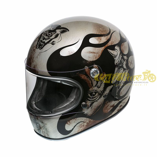 Casco integrale Premier TROPHY BD TITANIUM in fibra