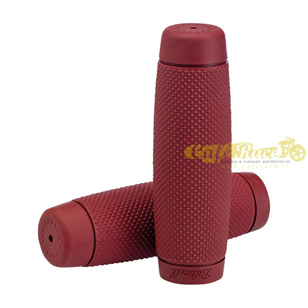 "Manopole BILTWELL TPV RECOIL OXBLOOD Ø 1"" - 25,4mm"