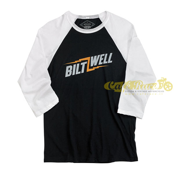 T-Shirt BILTWELL BOLT RAGLAN BLACK/WHITE