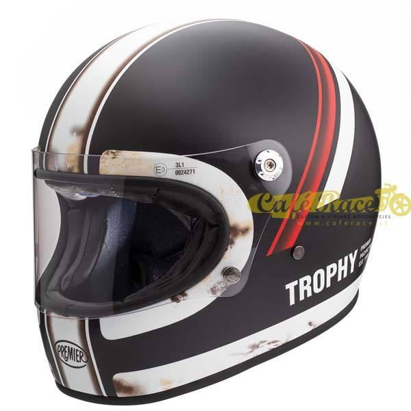 Casco integrale Premier TROPHY DO 92 Old Style BM in fibra