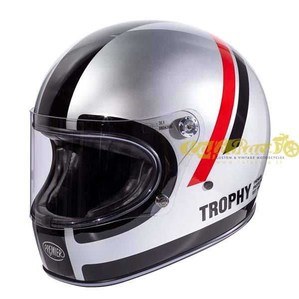 Casco integrale Premier TROPHY DO CHROMED in fibra