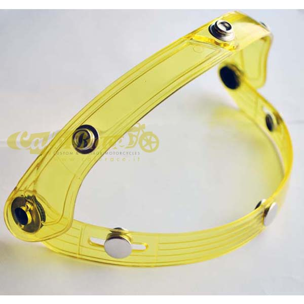Sistema Flip-Up 70's giallo per visiera bubble su casco jet