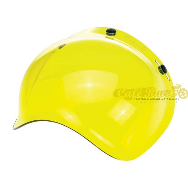 Visiera bolla bubble Biltwell yellow per casco jet