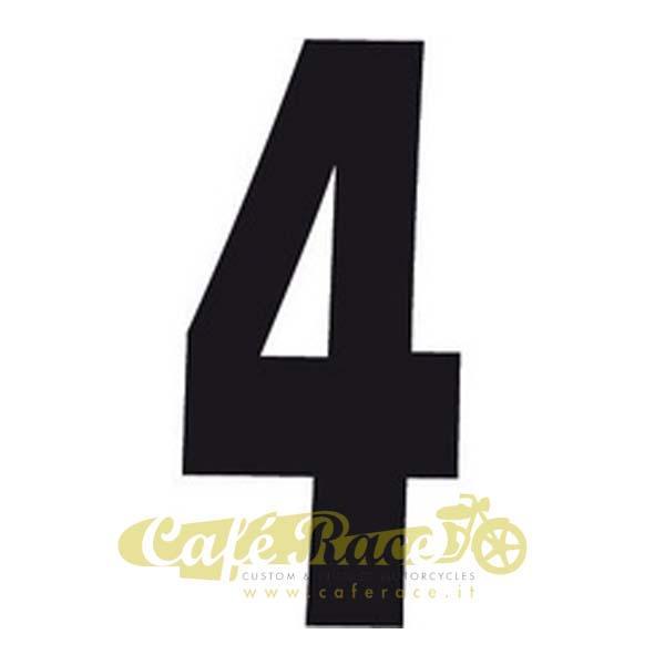 NUMERO 4 adesivo per tabella portanumero o carena