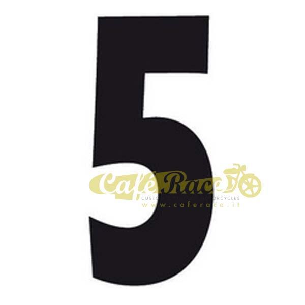 NUMERO 5 adesivo per tabella portanumero o carena