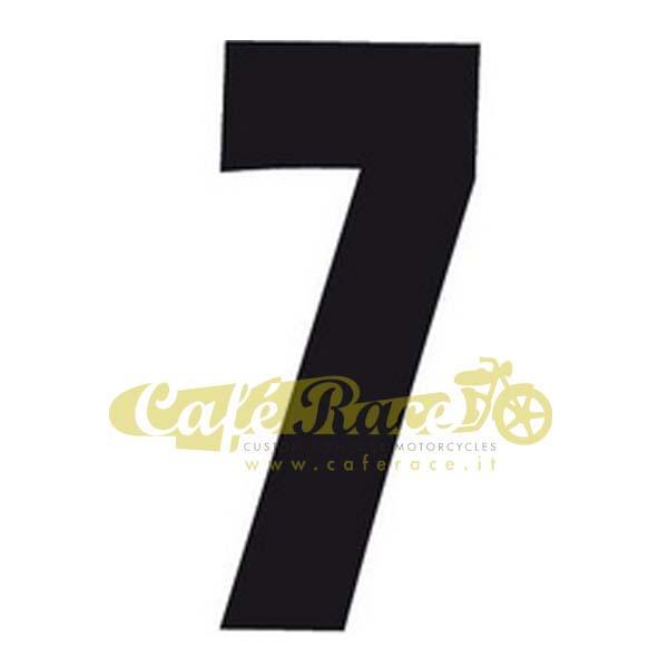 NUMERO 7 adesivo per tabella portanumero o carena