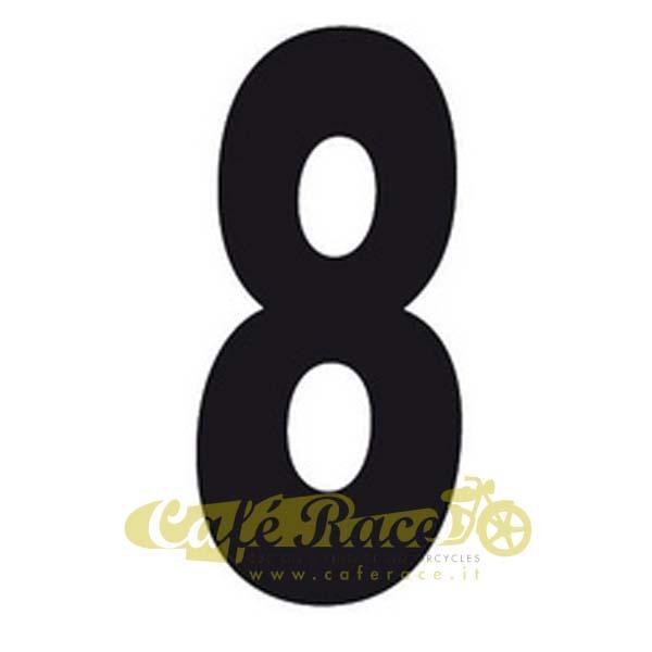 NUMERO 8 adesivo per tabella portanumero o carena