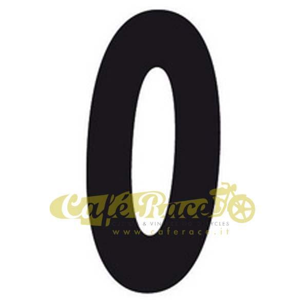 NUMERO 0 adesivo per tabella portanumero o carena