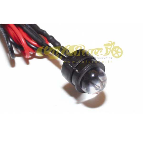 Spia mini LED colore rosso 10mm