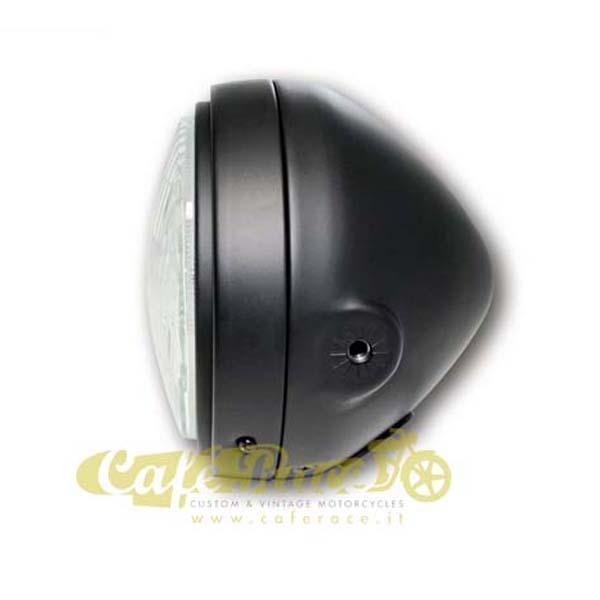 Faro anteriore nero opaco con attacchi laterali Omologato