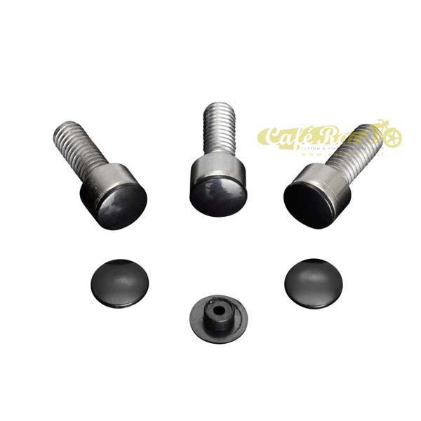 Tappi a pressione neri per bulloni M10 (confezione 10pz.)