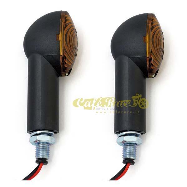Frecce Medium Cateye universali nere lenti fumè gambo lungo (2 pezzi) - Omologate