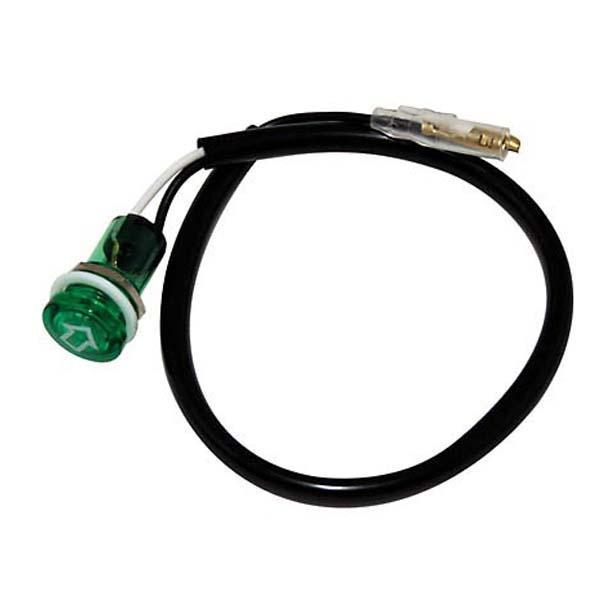 Spia alogena frecce colore verde Ø 18mm