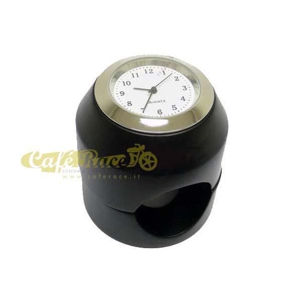 Orologio nero per manubrio Ø 22 e 25 mm