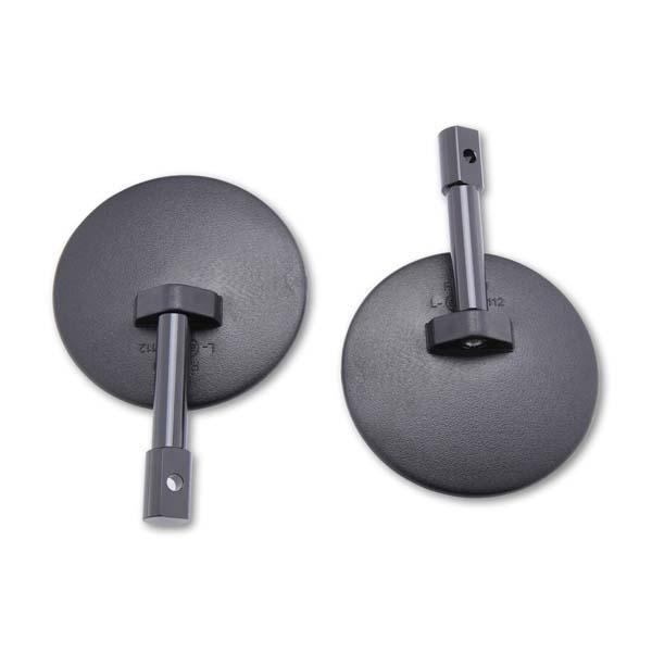 Coppia specchi retrovisori bar end colore nero omologati