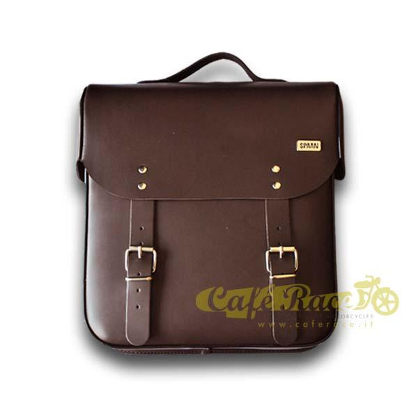 Mono borsa laterale con sgancio rapido Klick Fix 13 litri marrone