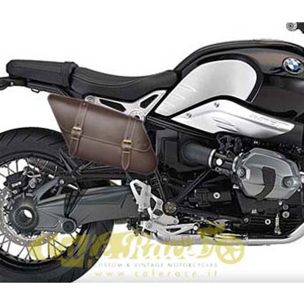 Borsa laterale SPAAN destra marrone BMW R NINE T