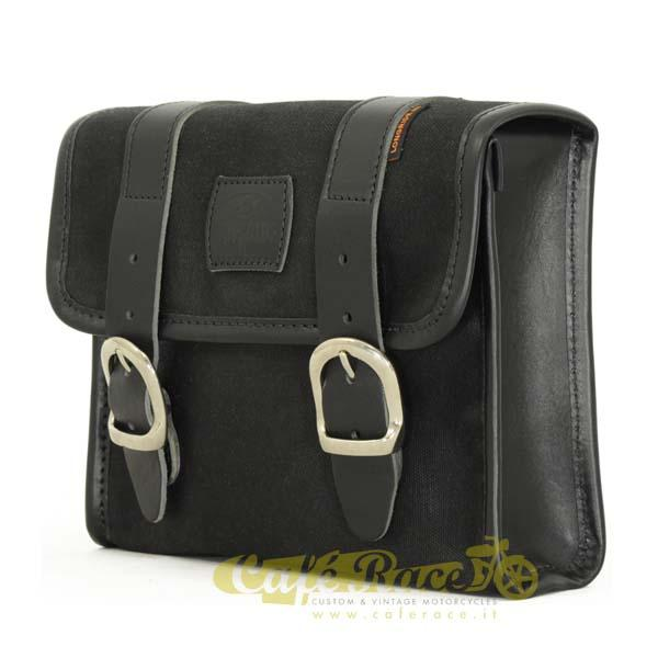 Mini borsa LONGRIDE BLACK in cotone cerato