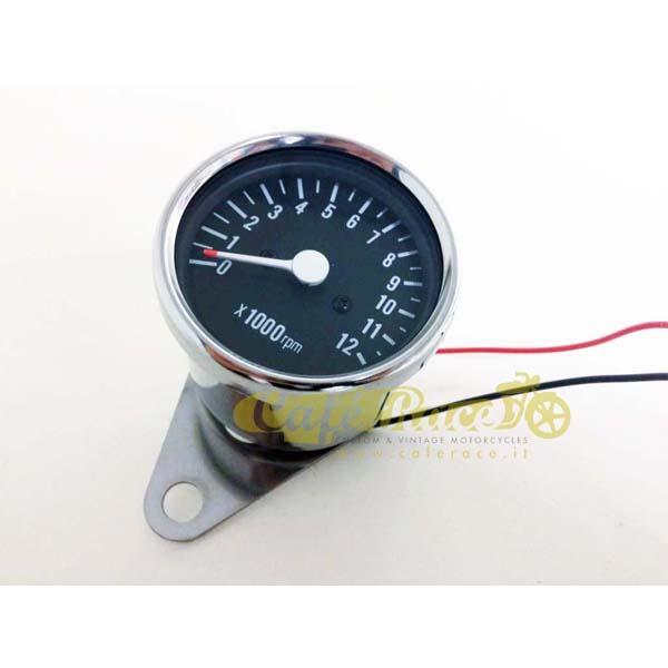 Contagiri cromato meccanico 12mila rpm 60mm ratio 1:4