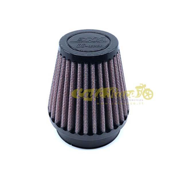 Filtro aria DNA Ø54mm conico rotondo con top in gomma