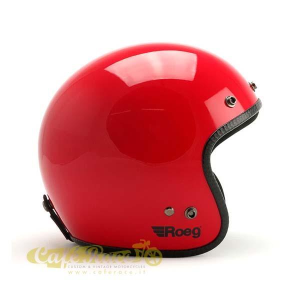 Casco jet ROEG Flaming Red Gloss Omologato