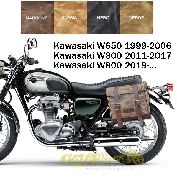 Kit borsa grande + telaio DX KAWASAKI W800 - W650