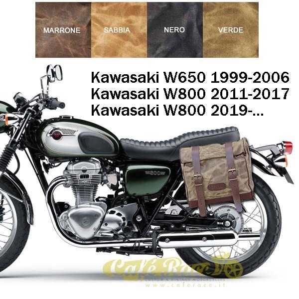 Kit borsa grande + telaio SX KAWASAKI W800 - W650