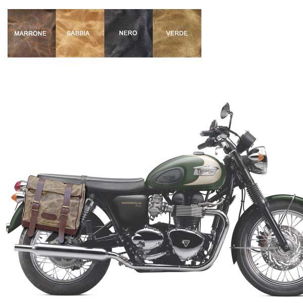Kit borsa grande + telaio DX TRIUMPH BONNEVILLE 2001-2015